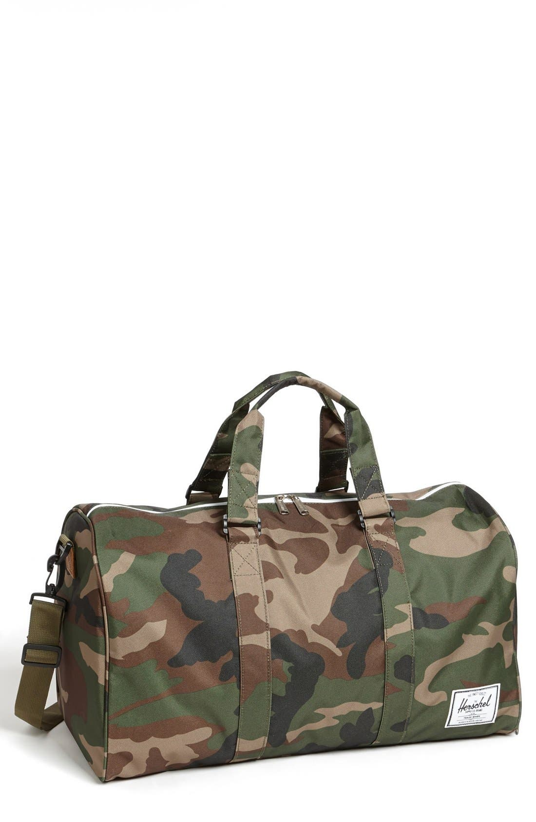 'Novel' Duffel Bag,                             Main thumbnail 1, color,                             Woodland Camo