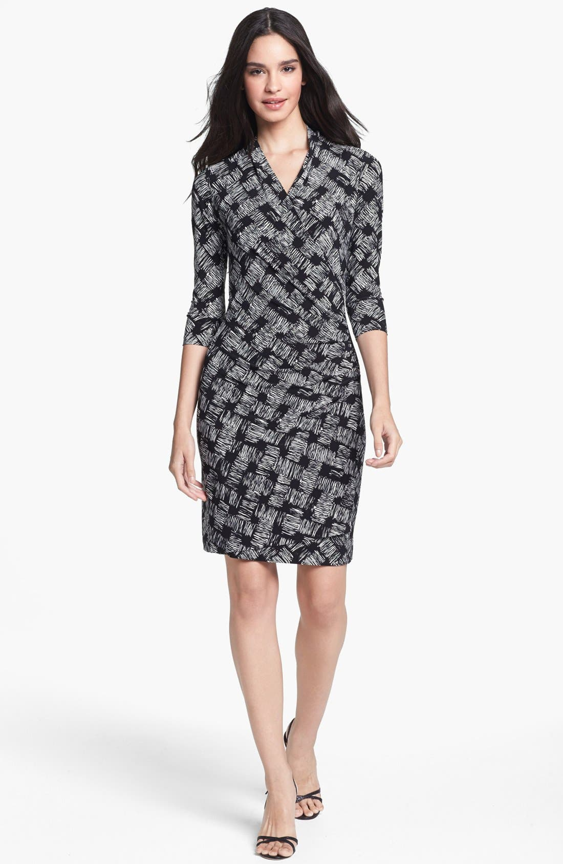 Main Image - KAMALIKULTURE Print Side Drape Sheath Dress
