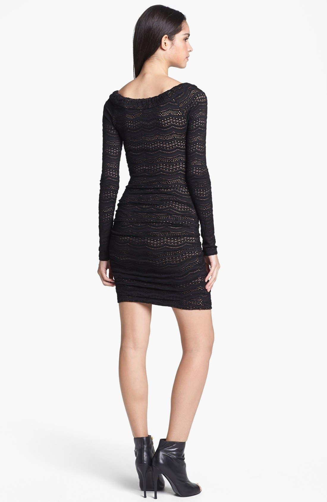 Alternate Image 2  - BCBGMAXAZRIA Lace Body-Con Dress
