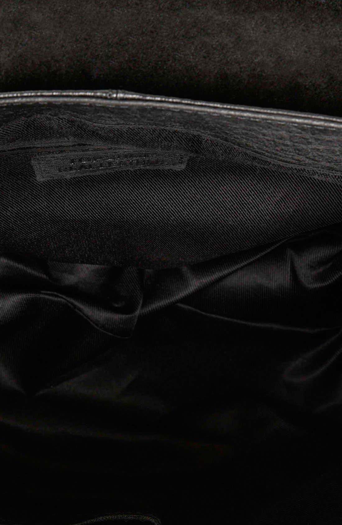 Alternate Image 3  - Topshop Metal Tab Leather Satchel
