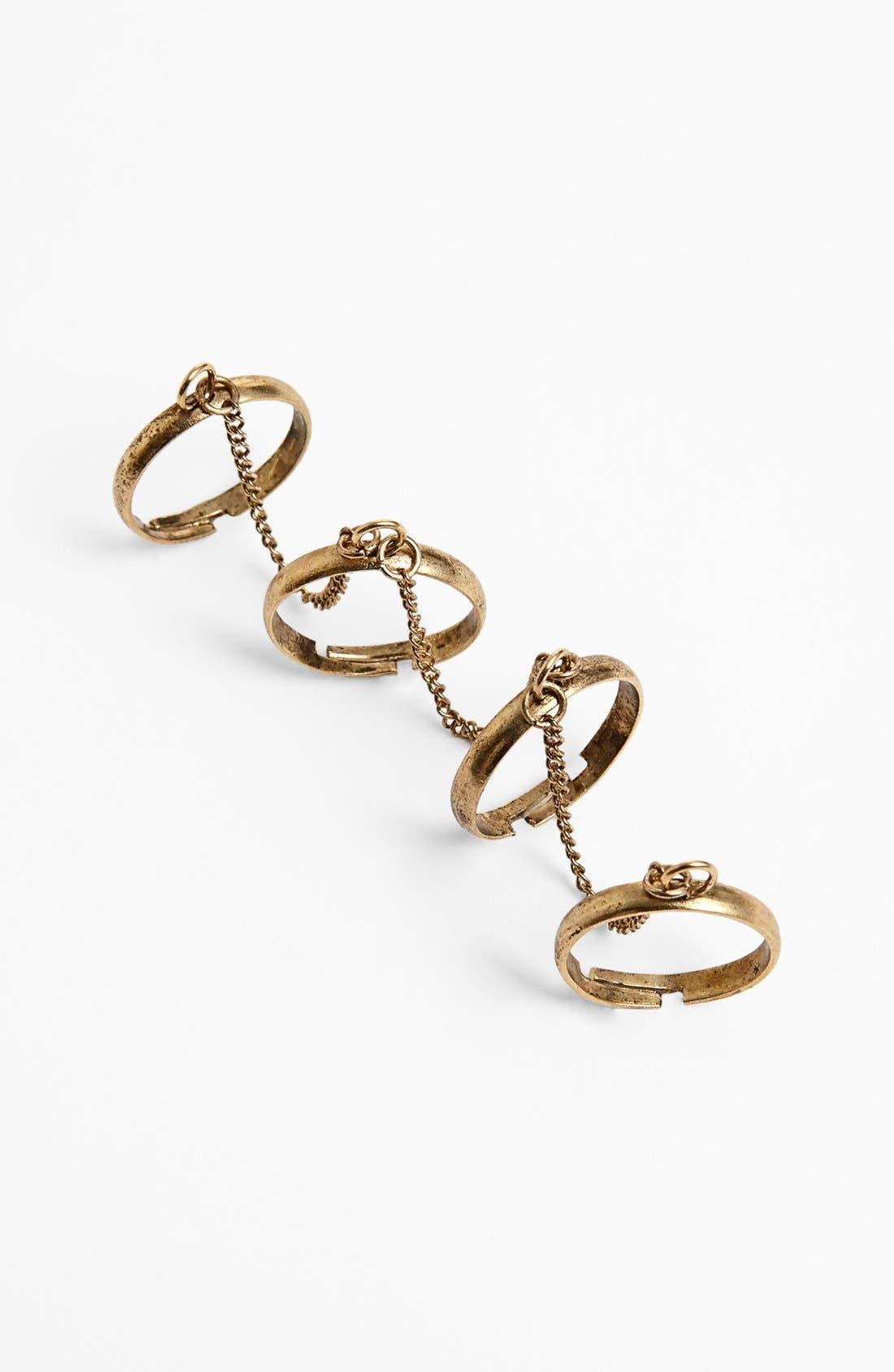 Alternate Image 1 Selected - Stephan & Co. Four-Finger Ring (Juniors)
