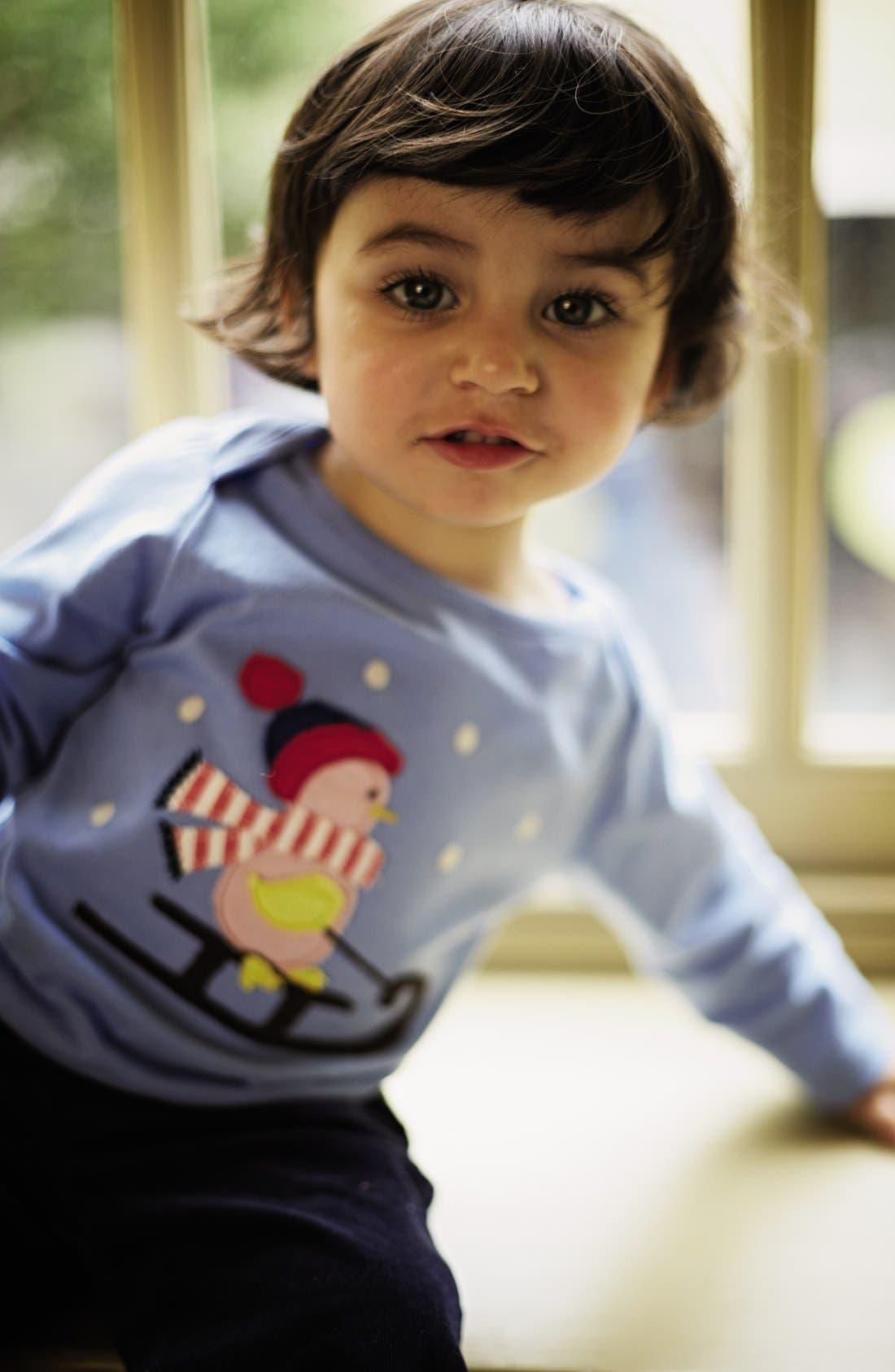 Alternate Image 2  - Mini Boden 'Festive' Appliqué Tee (Baby Girls)