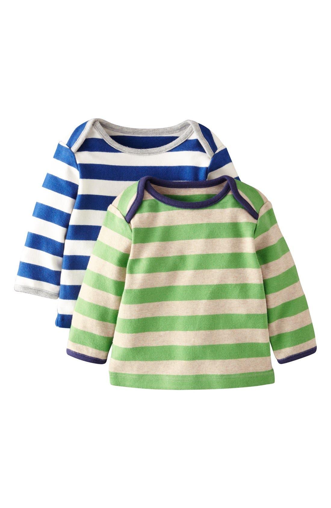 'Stripy' T-Shirt,                         Main,                         color, Royal Blue/ Lime