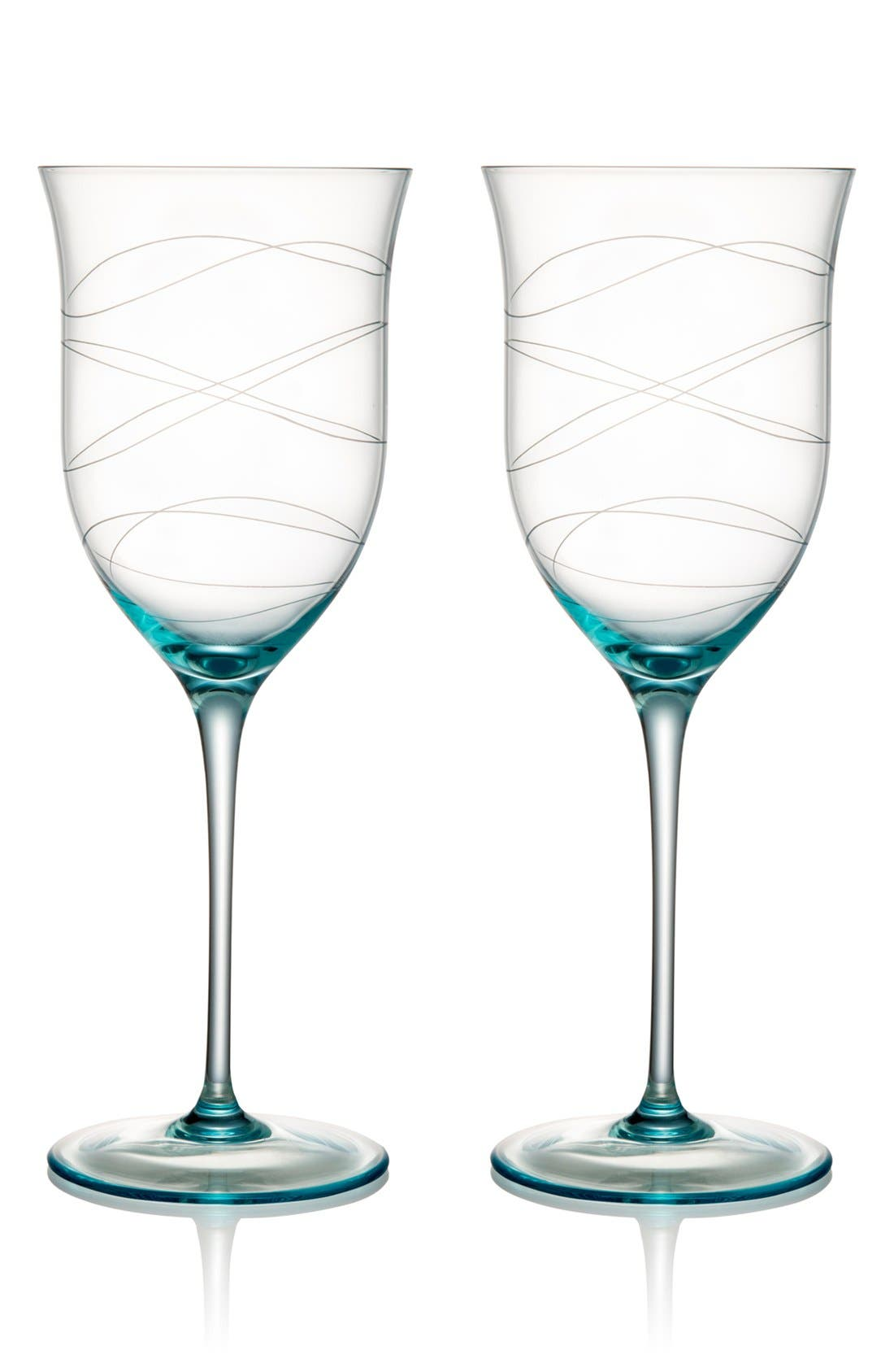 Alternate Image 1 Selected - Nambé 'Motus' Crystal Goblets (Set of 2)