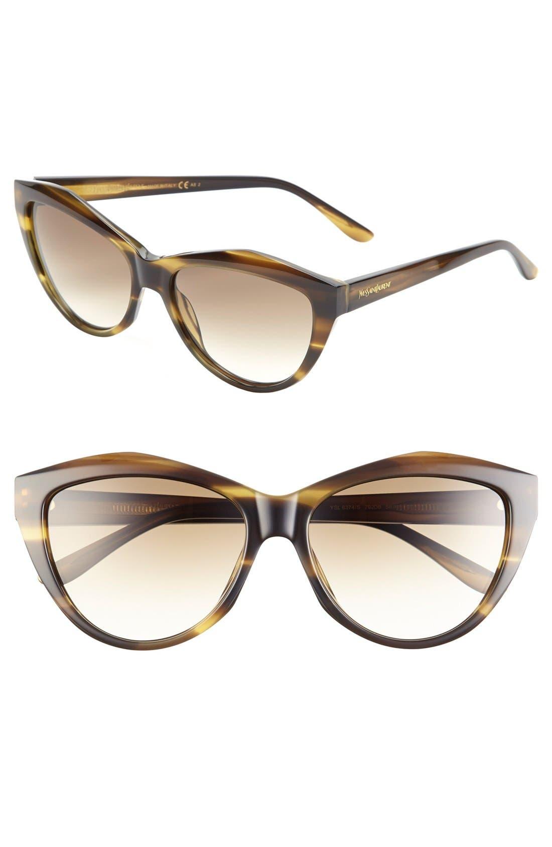 Alternate Image 1 Selected - Saint Laurent 56mm Cat Eye Sunglasses