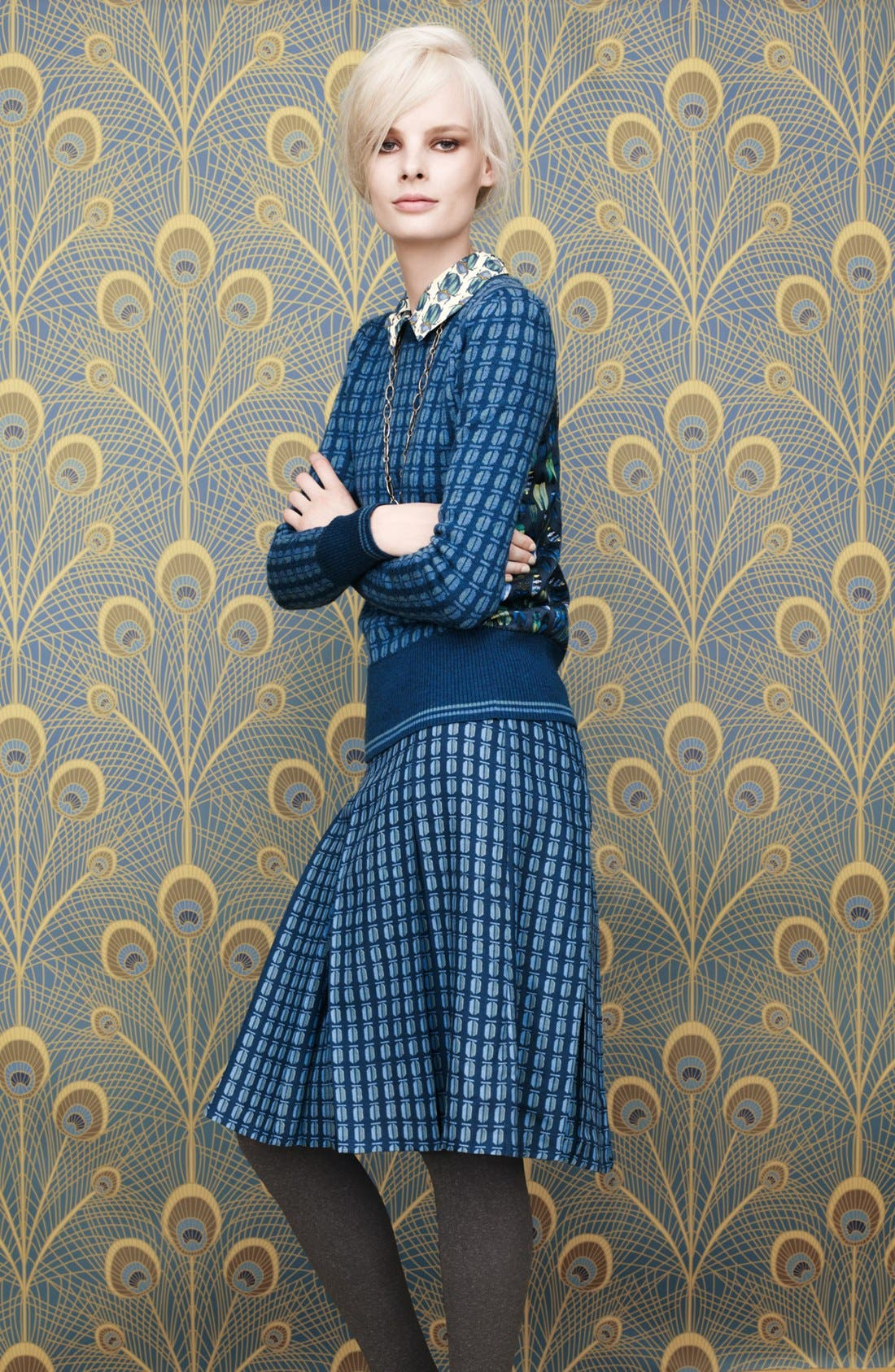 Alternate Image 1 Selected - Tory Burch Sweater, Blouse, Skirt & Pump
