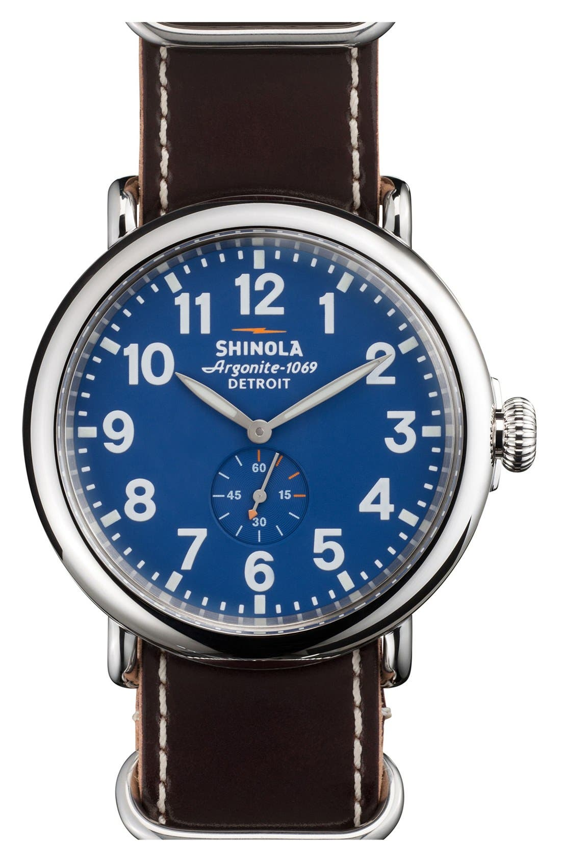 Main Image - Shinola 'The Runwell' Leather Strap Watch, 47mm