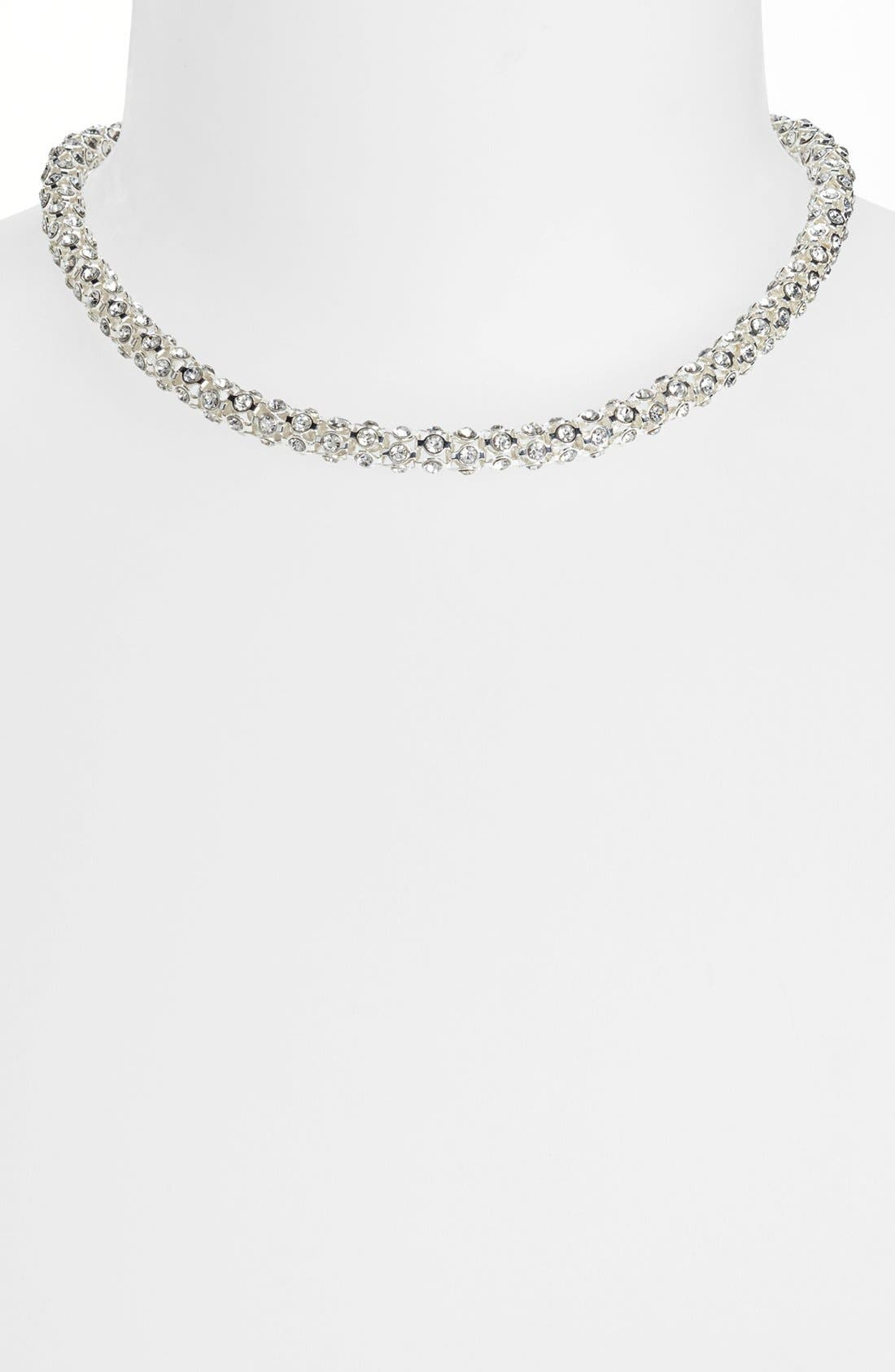 Alternate Image 1 Selected - Anne Klein Pavé Collar Necklace