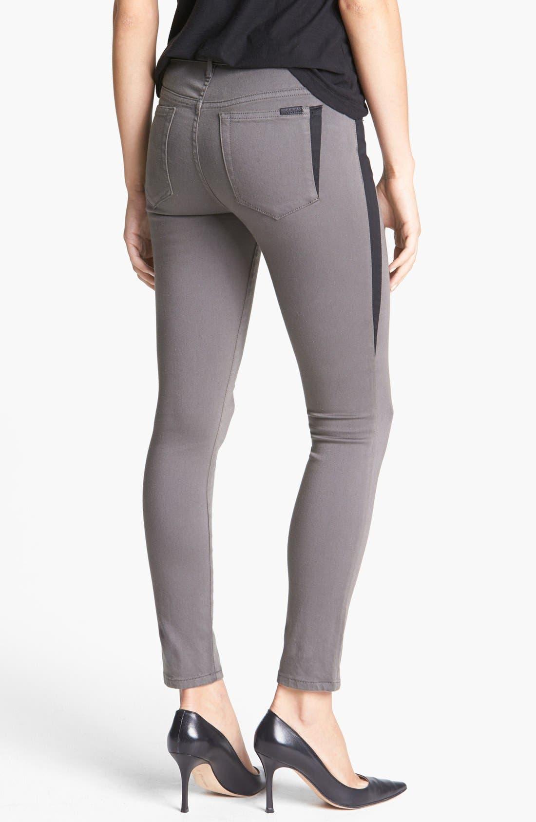 Alternate Image 2  - Joe's 'Oblique' Skinny Ankle Jeans (Charcoal)