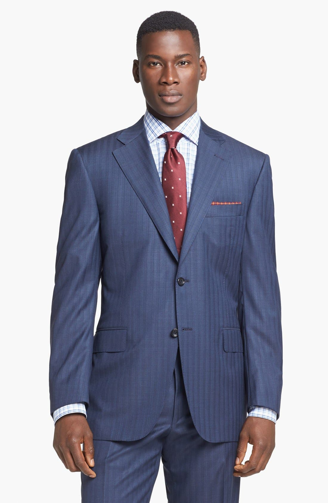 Alternate Image 3  - Canali Suit & BOSS HUGO BOSS Dress Shirt