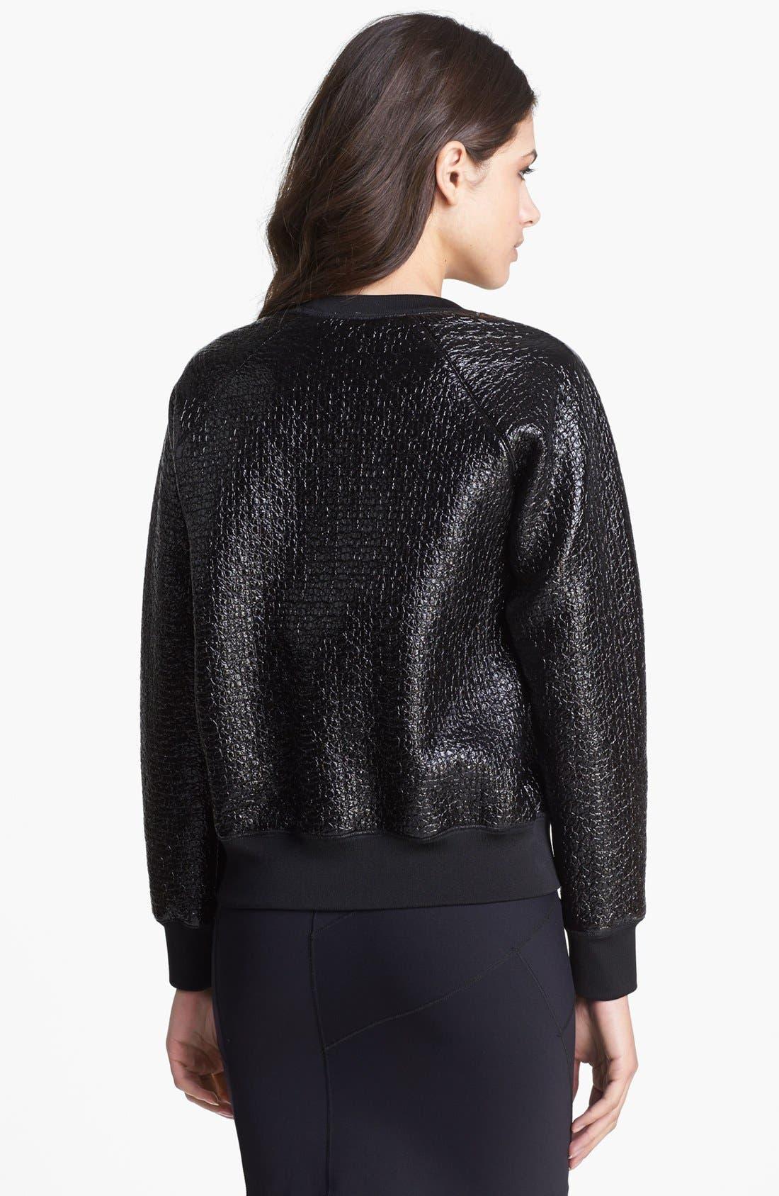 Alternate Image 2  - Theory 'Incline B.' Laminated Sweater