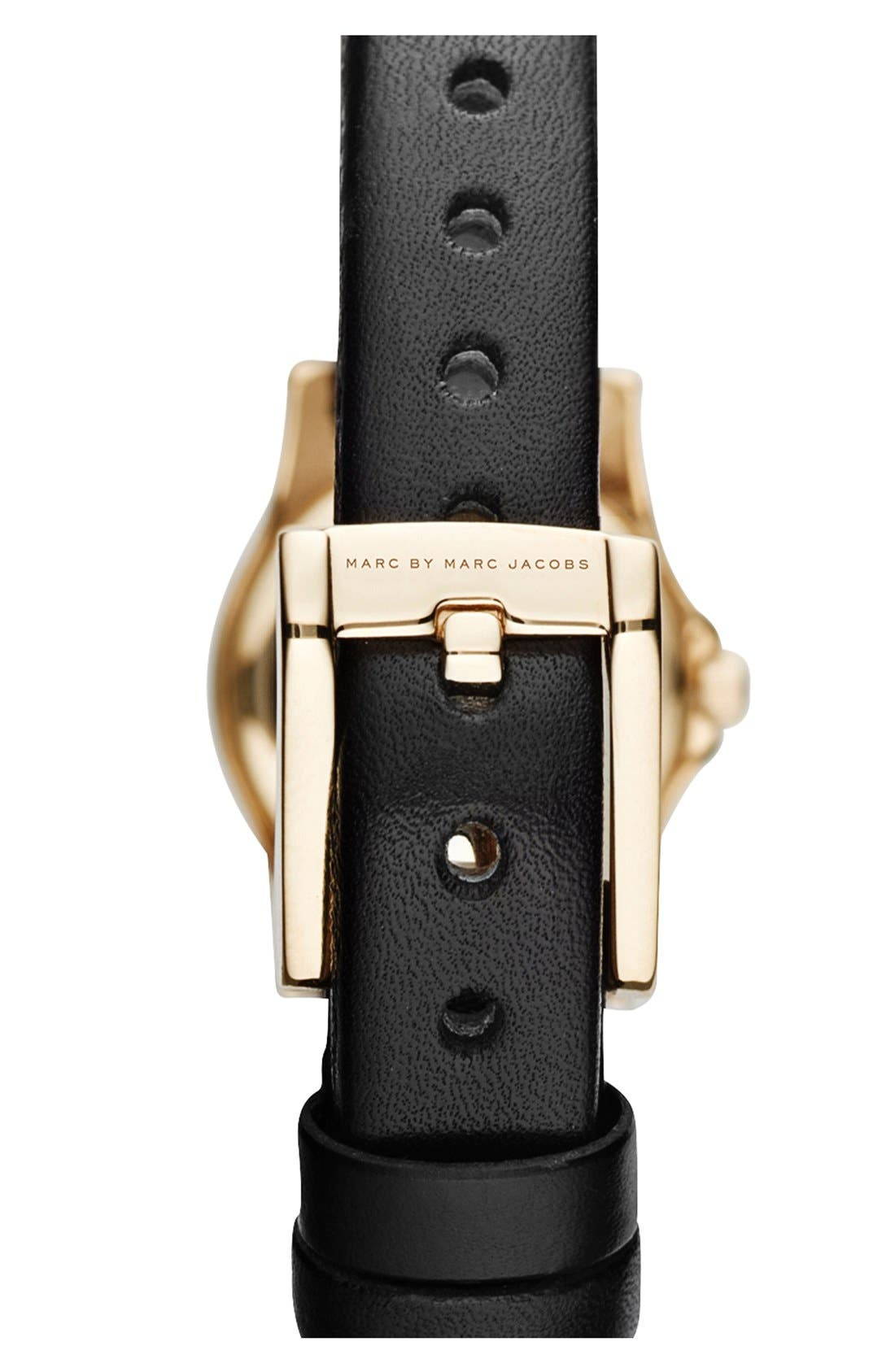 Alternate Image 2  - MARC JACOBS 'Henry Dinky' Leather Strap Watch, 20mm