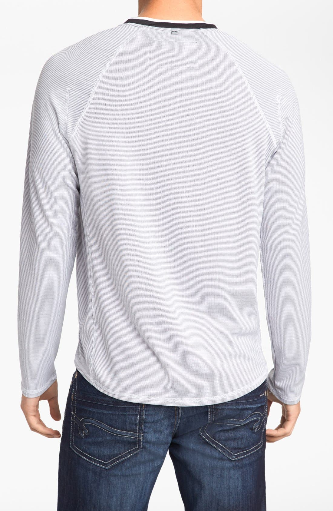 Alternate Image 2  - RVCA 'Fraction' Long Sleeve V-Neck T-Shirt