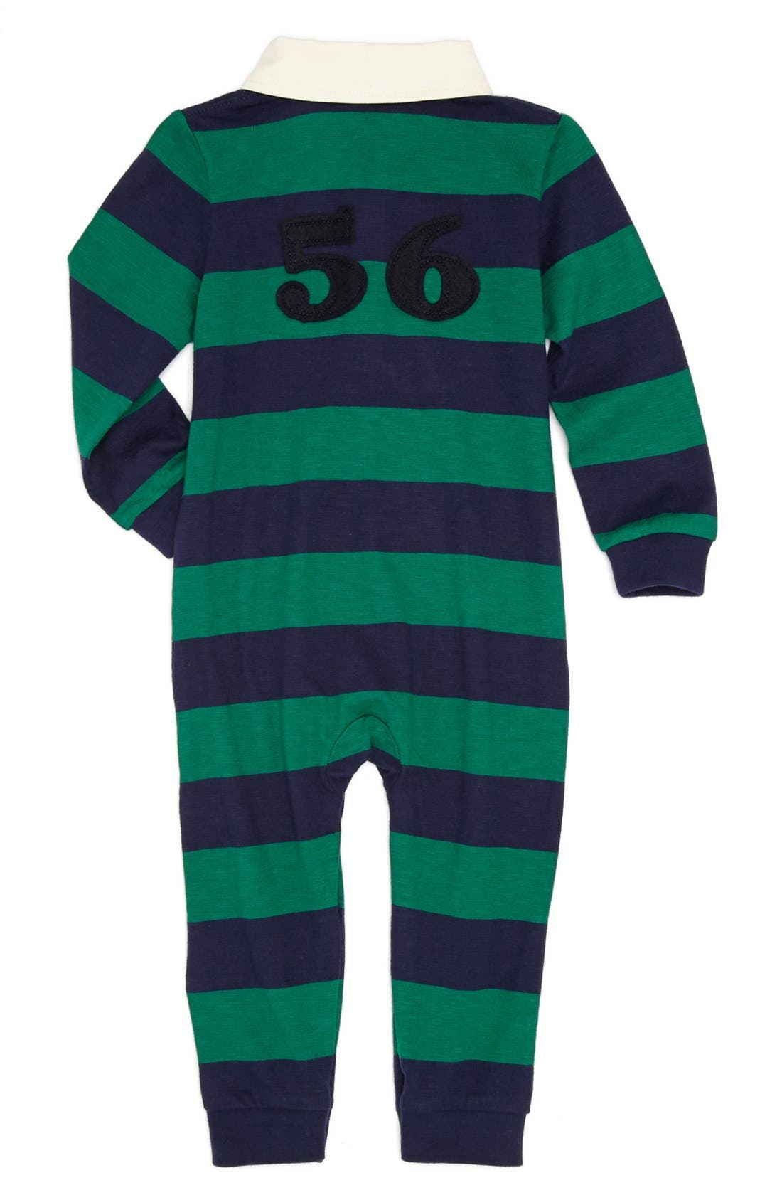 Alternate Image 2  - Burberry 'Dave' Stripe Romper (Baby)
