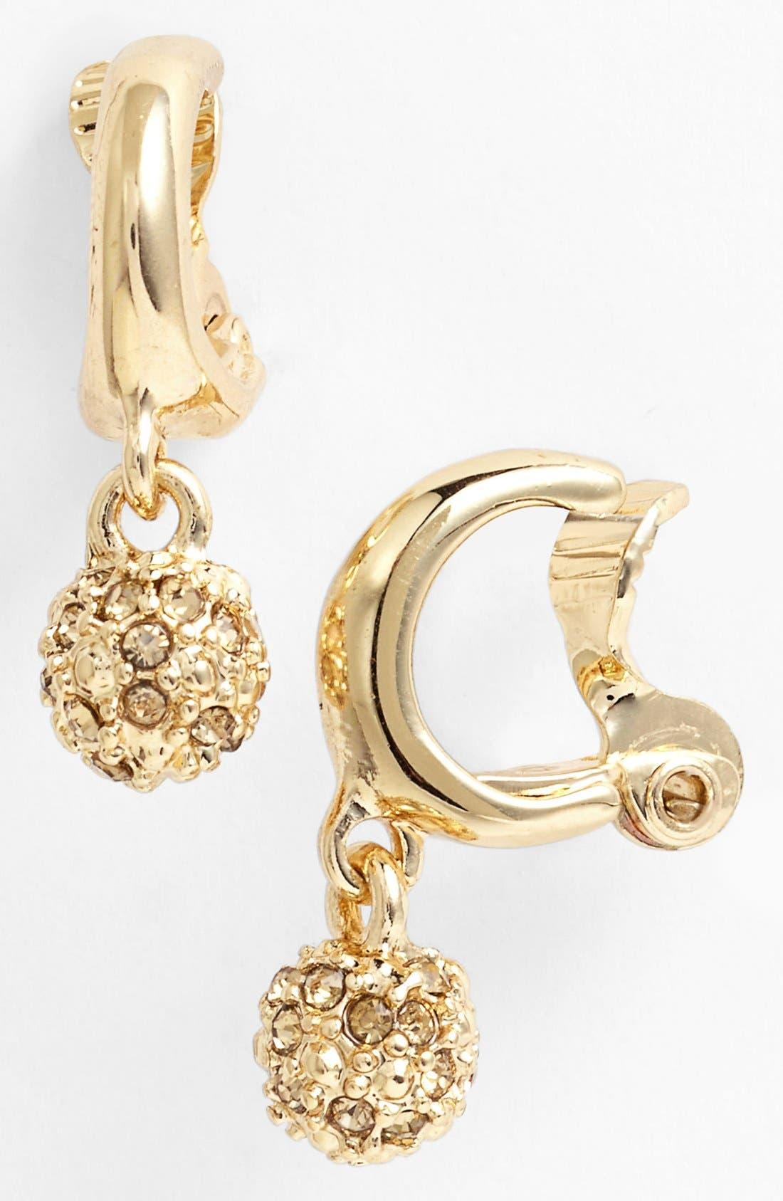 Alternate Image 1 Selected - Anne Klein Fireball Clip Hoop Earrings