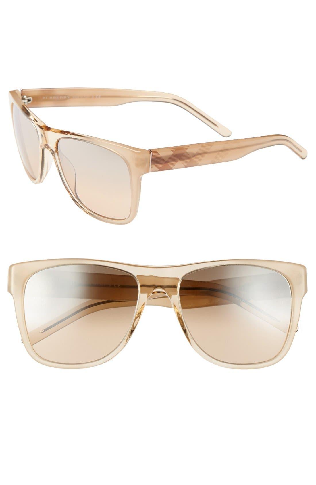Main Image - Burberry 56mm Translucent Sunglasses