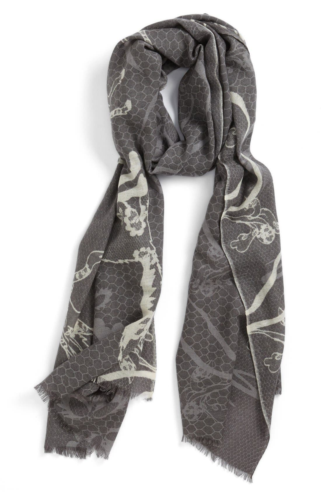 Alternate Image 1 Selected - Yarnz 'Animal Lace' Cashmere & Wool Scarf