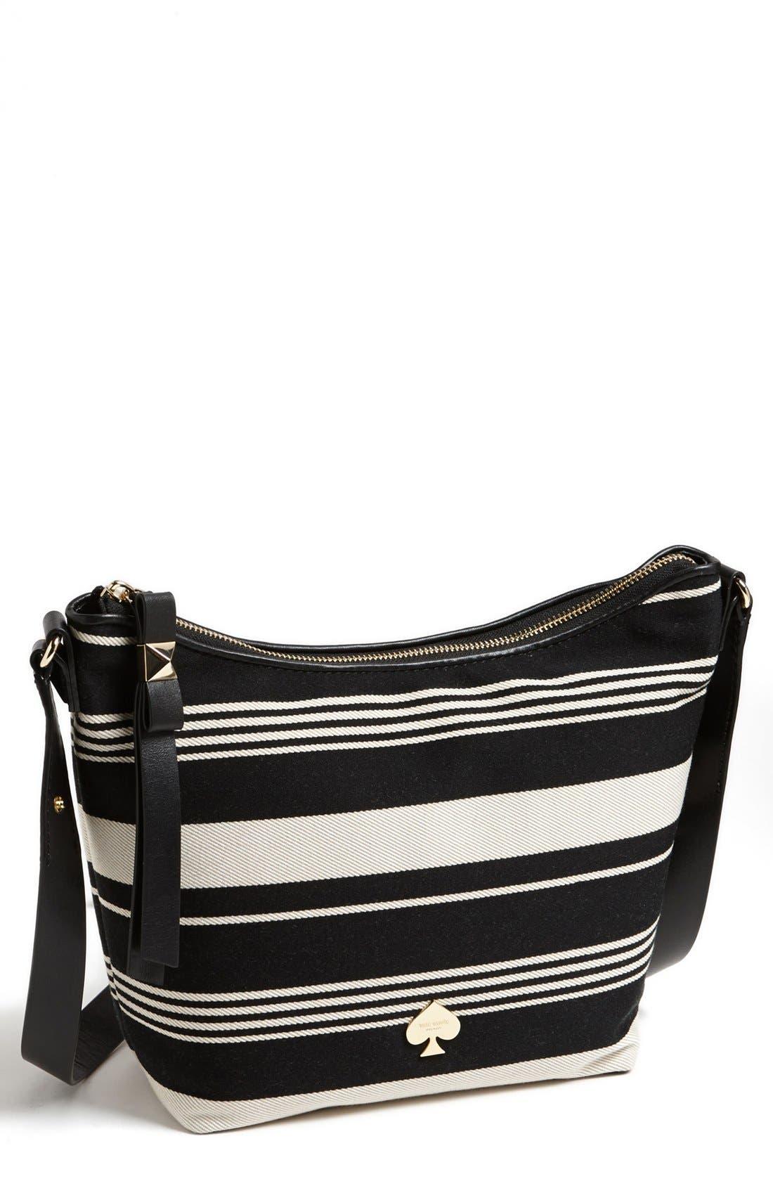 Main Image - kate spade new york 'leroy street - stripe vivienne' satchel