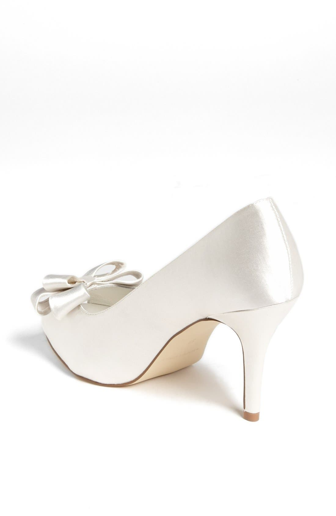 Bow Peep Toe Pump,                             Alternate thumbnail 2, color,                             Ivory