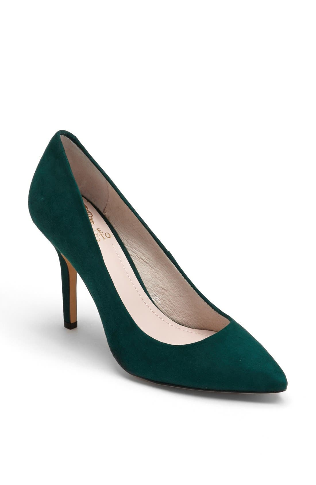 'Hallee' Pump,                             Main thumbnail 1, color,                             Hunter Green Suede