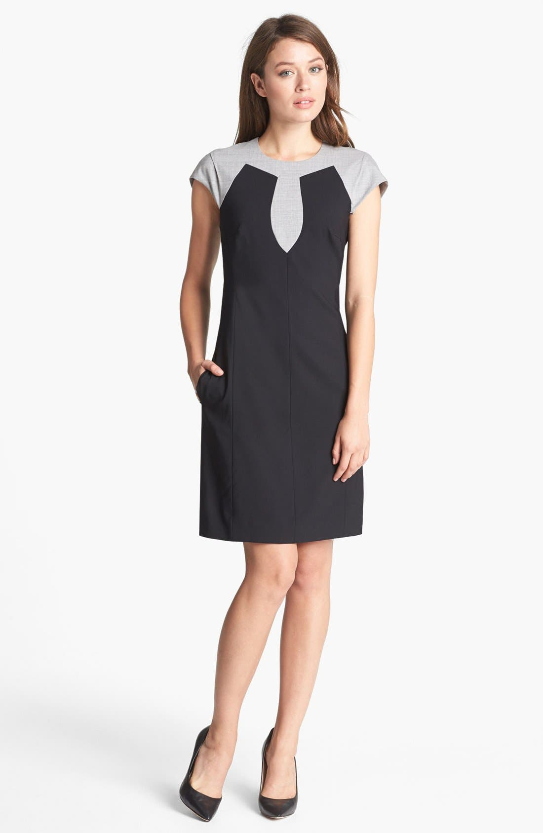 Alternate Image 1 Selected - Rachel Roy Tropical Stretch Wool Shift Dress