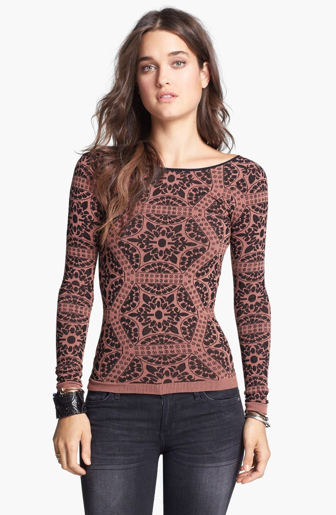 Alternate Image 1 Selected - Free People Print Scoop Back Top