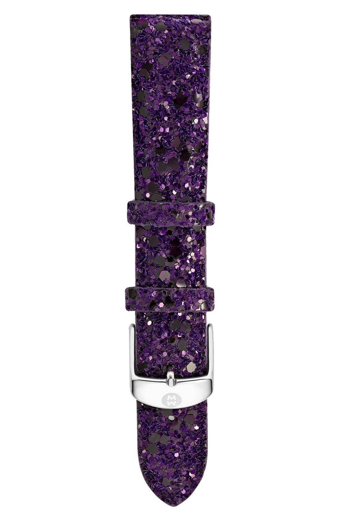 Main Image - MICHELE 18mm Glitter Watch Strap