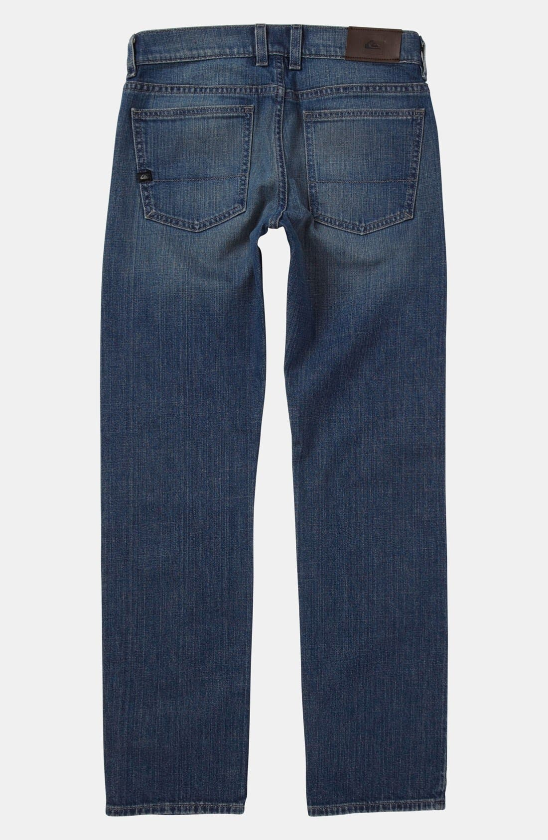 Alternate Image 1 Selected - Quiksilver 'Distortion' Straight Leg Jeans (Little Boys)