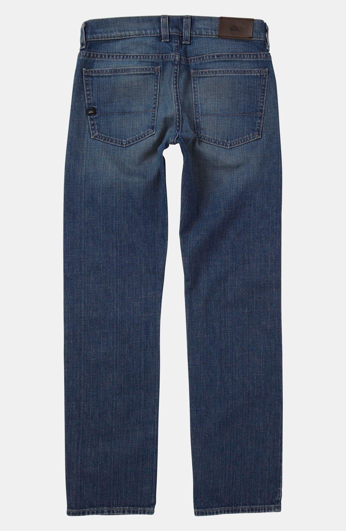 Main Image - Quiksilver 'Distortion' Straight Leg Jeans (Little Boys)
