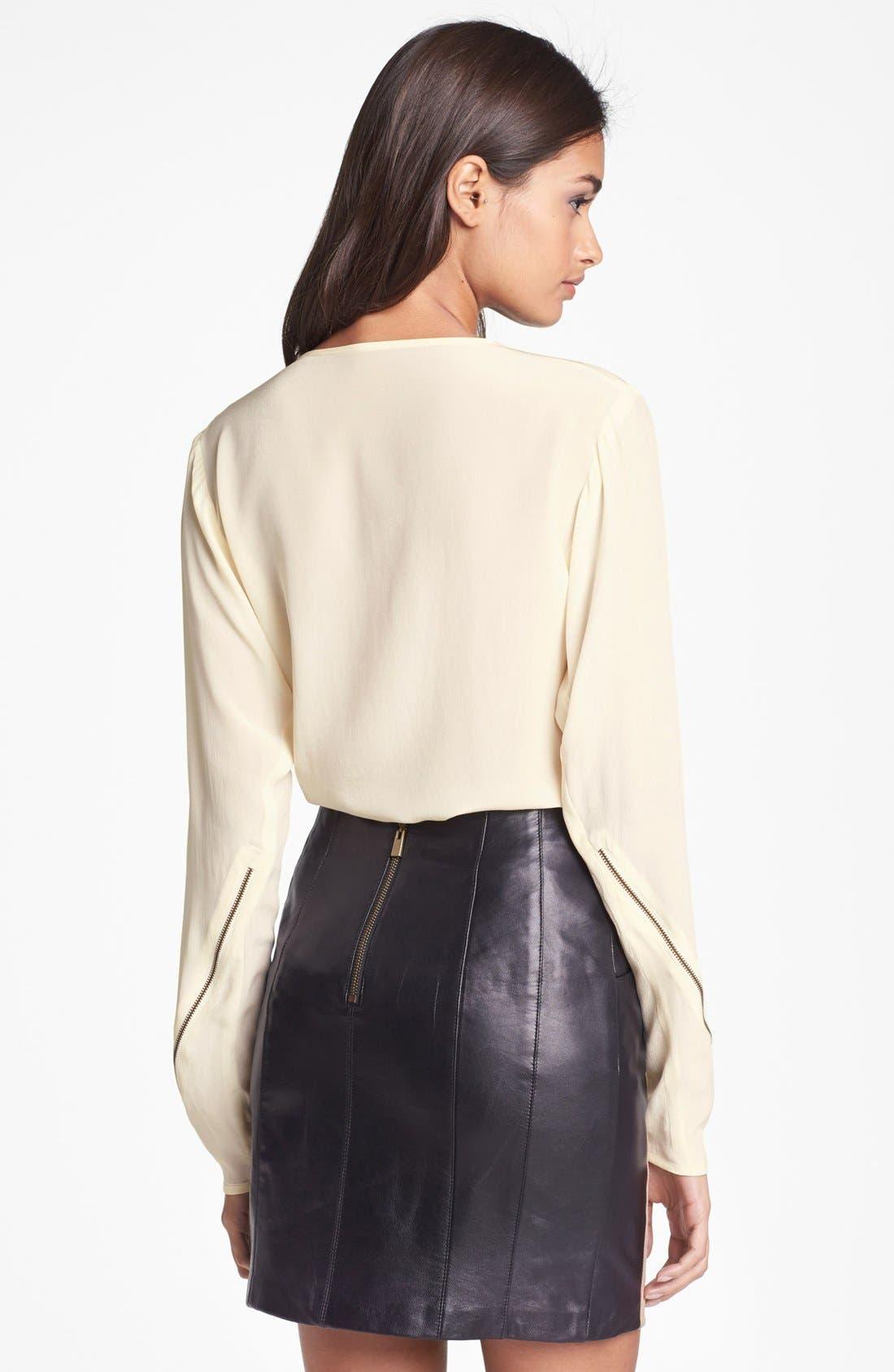 Alternate Image 2  - Nanette Lepore Embellished Silk Top