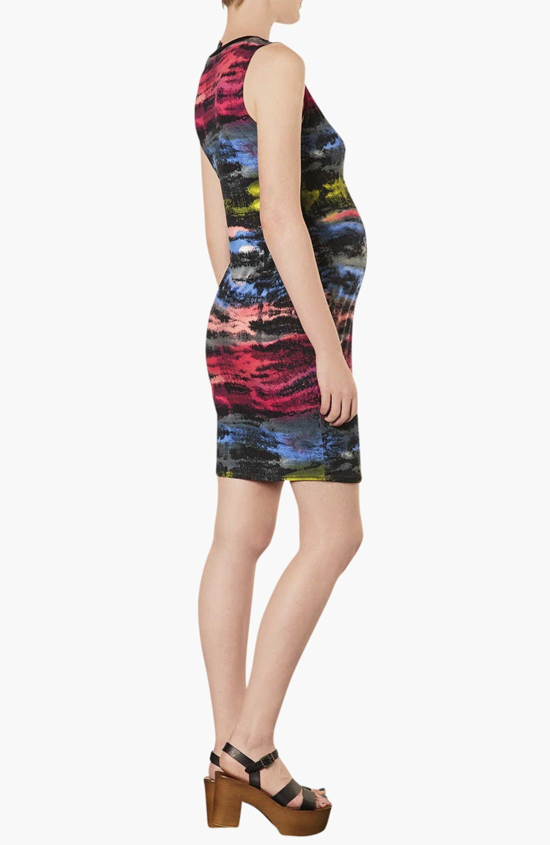 Alternate Image 2  - Topshop 'Electric Ray' Midi Maternity Dress