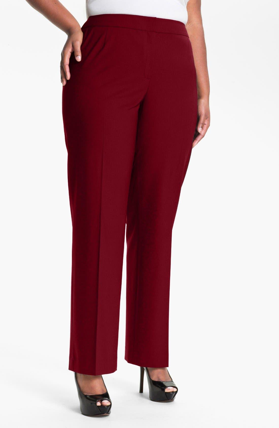 Alternate Image 1 Selected - Lafayette 148 New York 'Menswear' Trousers (Plus Size)