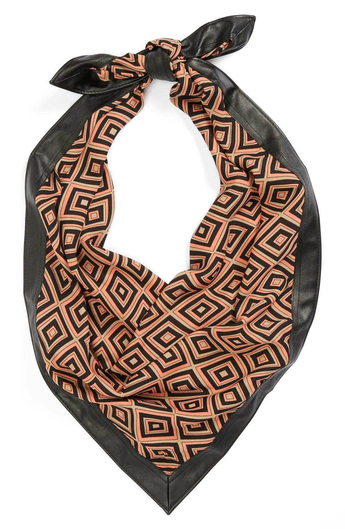 Alternate Image 1 Selected - Halogen® Graphic Print Scarf with Faux Leather Trim