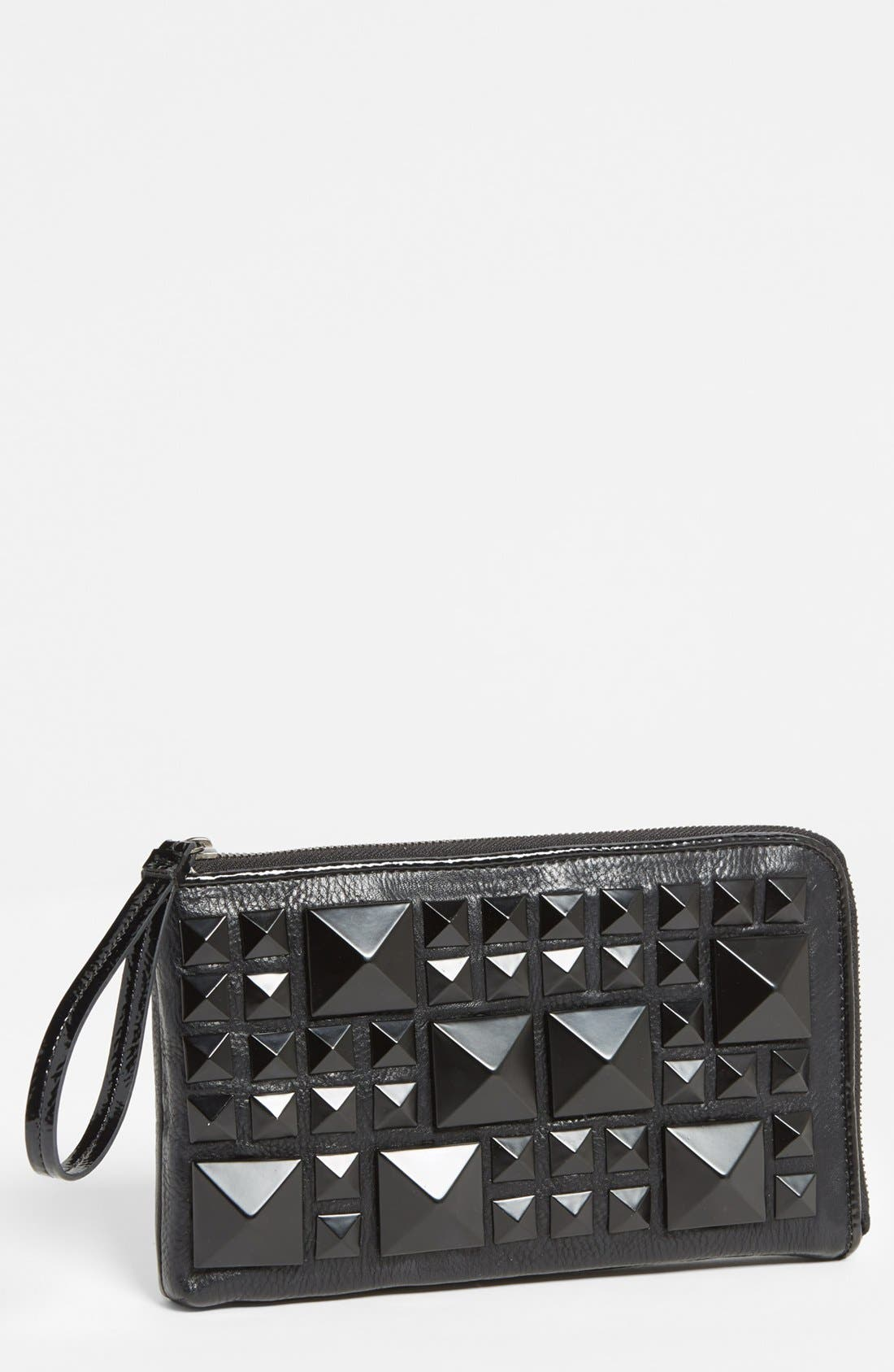 Alternate Image 1 Selected - POVERTY FLATS by rian Matte Pyramid Stud Zip Clutch
