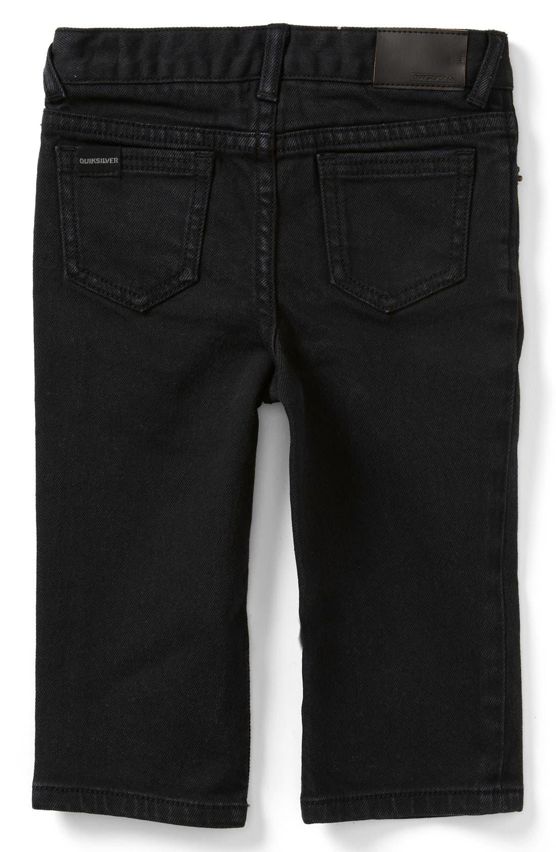 Main Image - Quiksilver 'Distortion' Slim Straight Leg Jeans (Baby Boys)