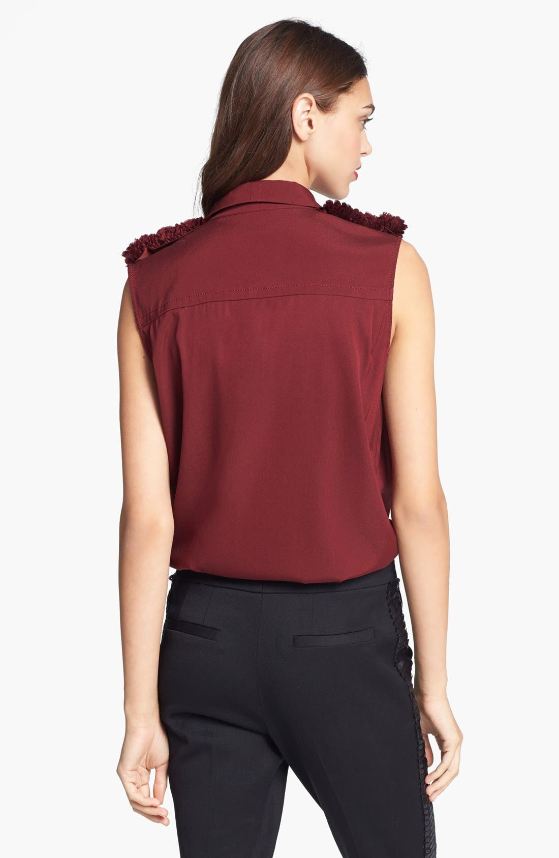 Alternate Image 3  - Rachel Zoe 'Fiona' Ruffled Epaulet Blouse