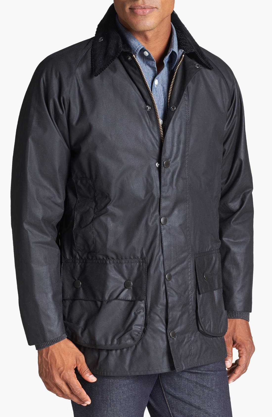 Alternate Image 1 Selected - Barbour 'Beaufort' Regular Fit Weatherproof Waxed Jacket