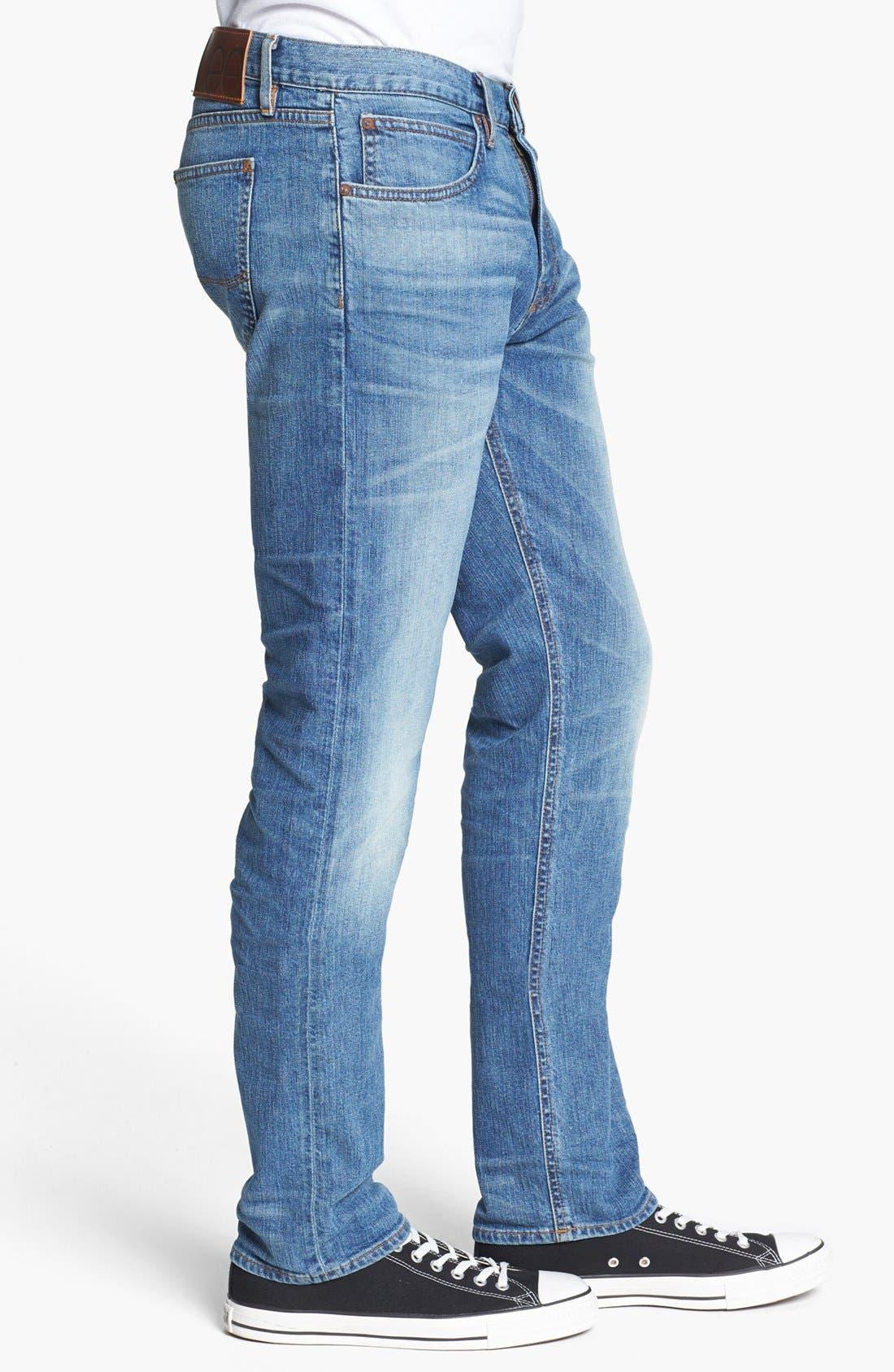 Alternate Image 3  - Lee 101 USA Lean Straight Leg Jeans (Dry Dust)