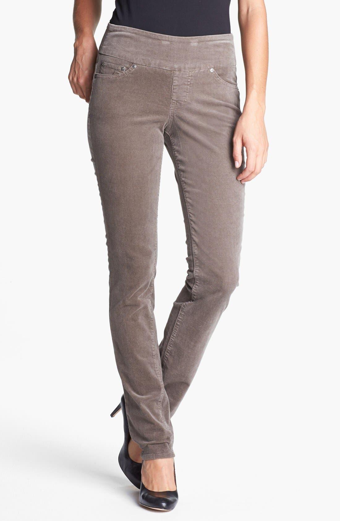 Alternate Image 1 Selected - Jag Jeans 'Peri' Straight Leg Corduroy Pants (Petite)