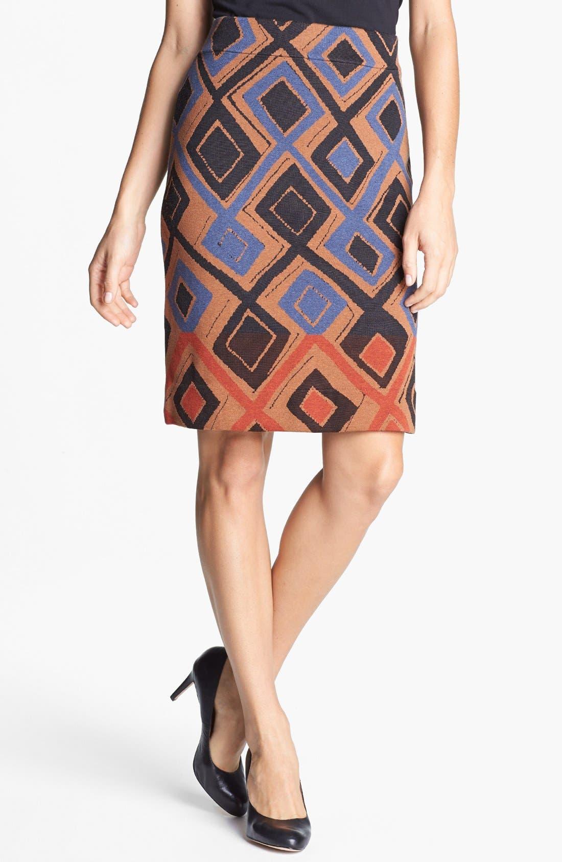 Main Image - NIC+ZOE 'Falling Diamonds Wink' Skirt (Petite)