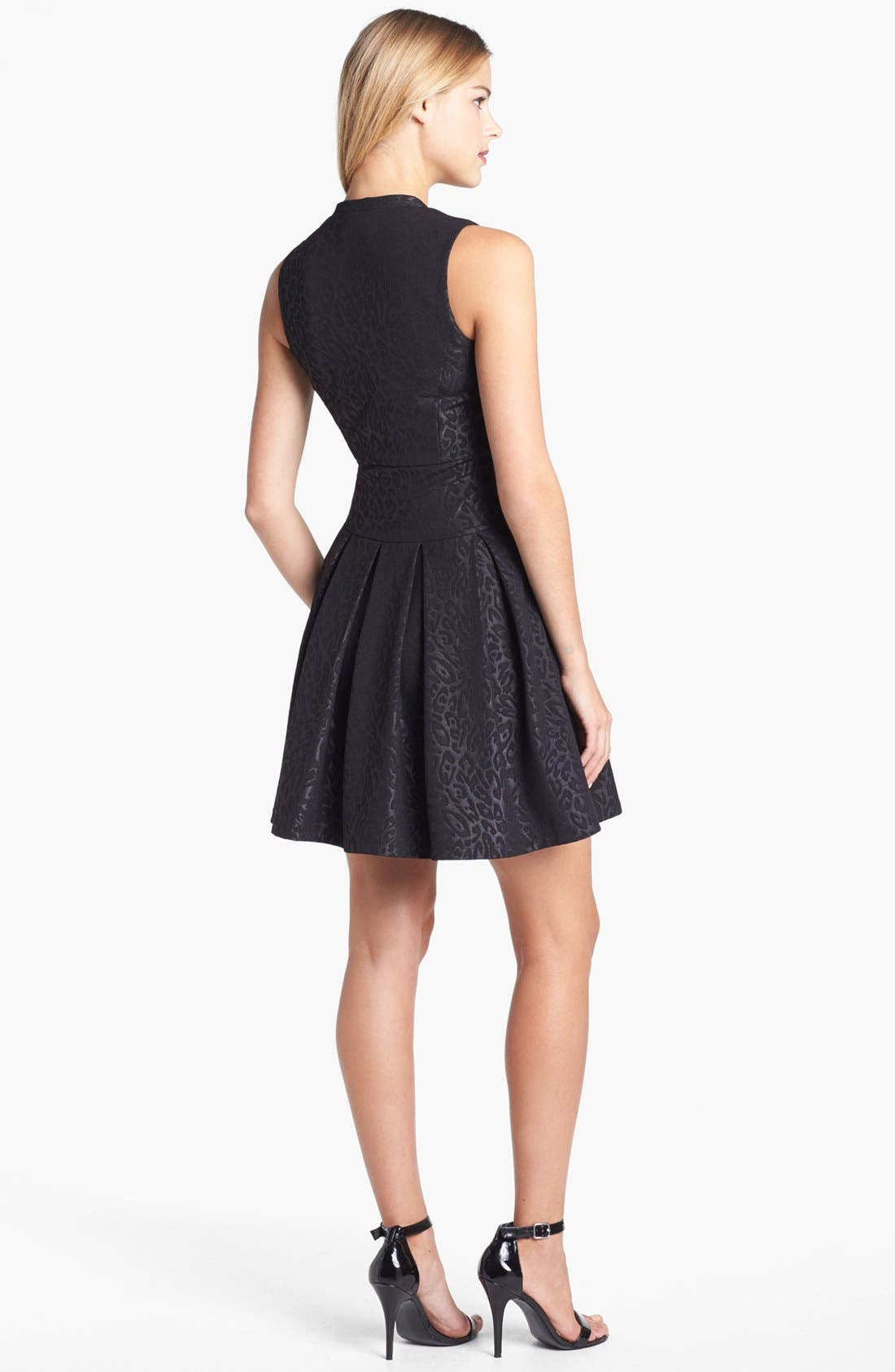 Alternate Image 2  - GUESS Jacquard Ponte Knit Fit & Flare Dress