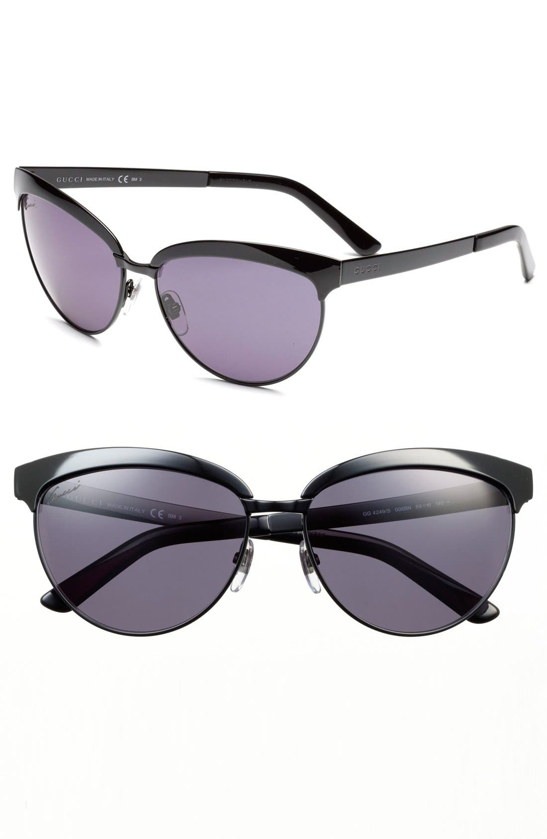Alternate Image 1 Selected - Gucci 59mm Sunglasses