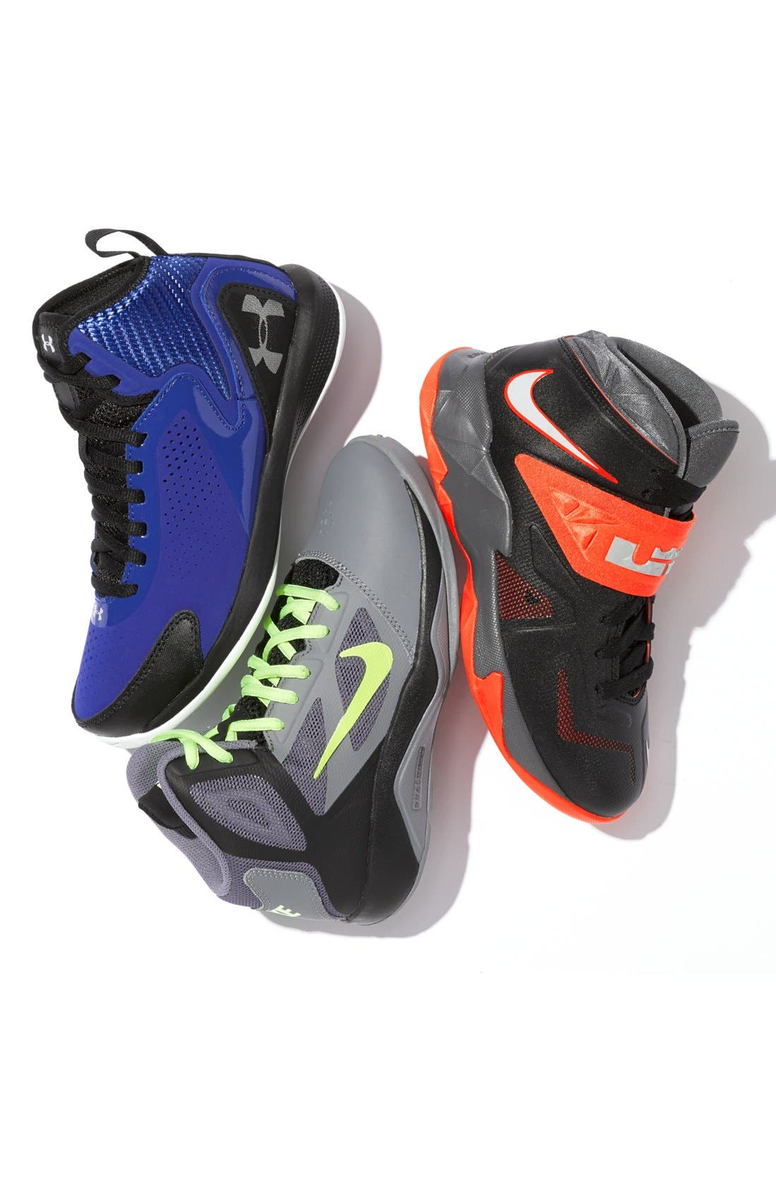 Alternate Image 5  - Nike 'LeBron Zoom Soldier VII' Basketball Shoe (Big Kid)