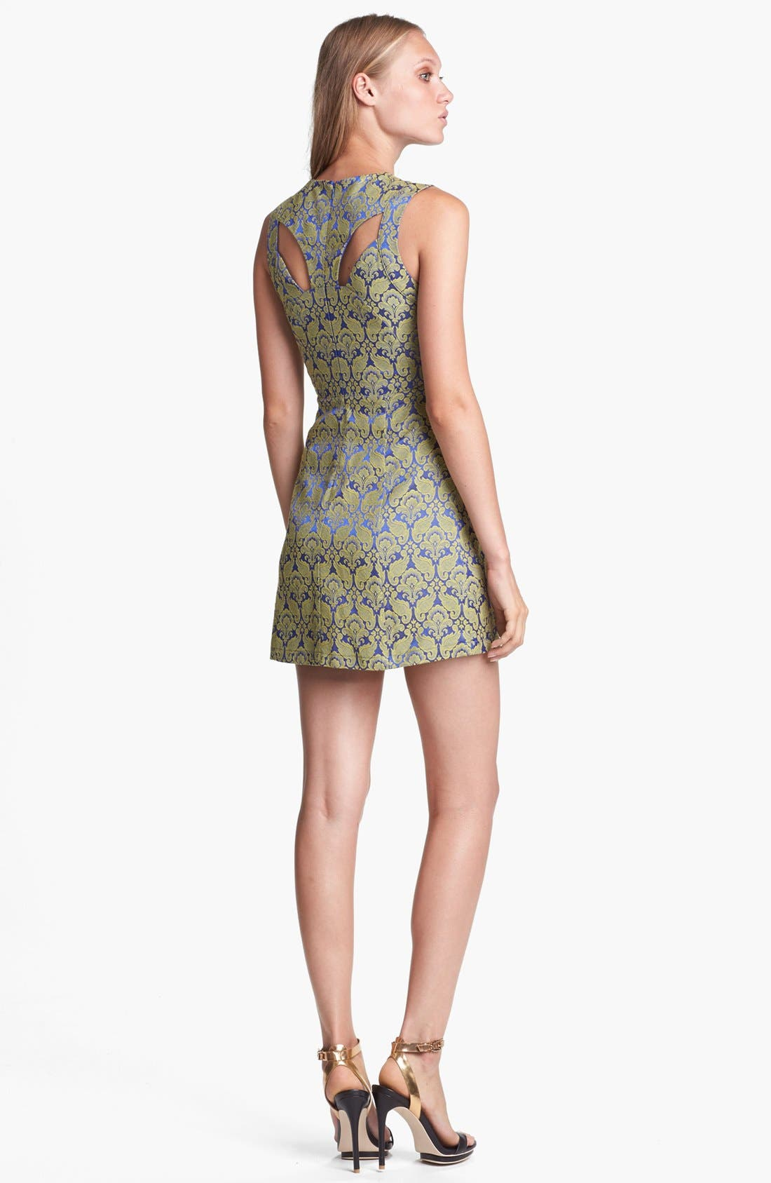 Alternate Image 2  - ASTR Cutout Jacquard Minidress