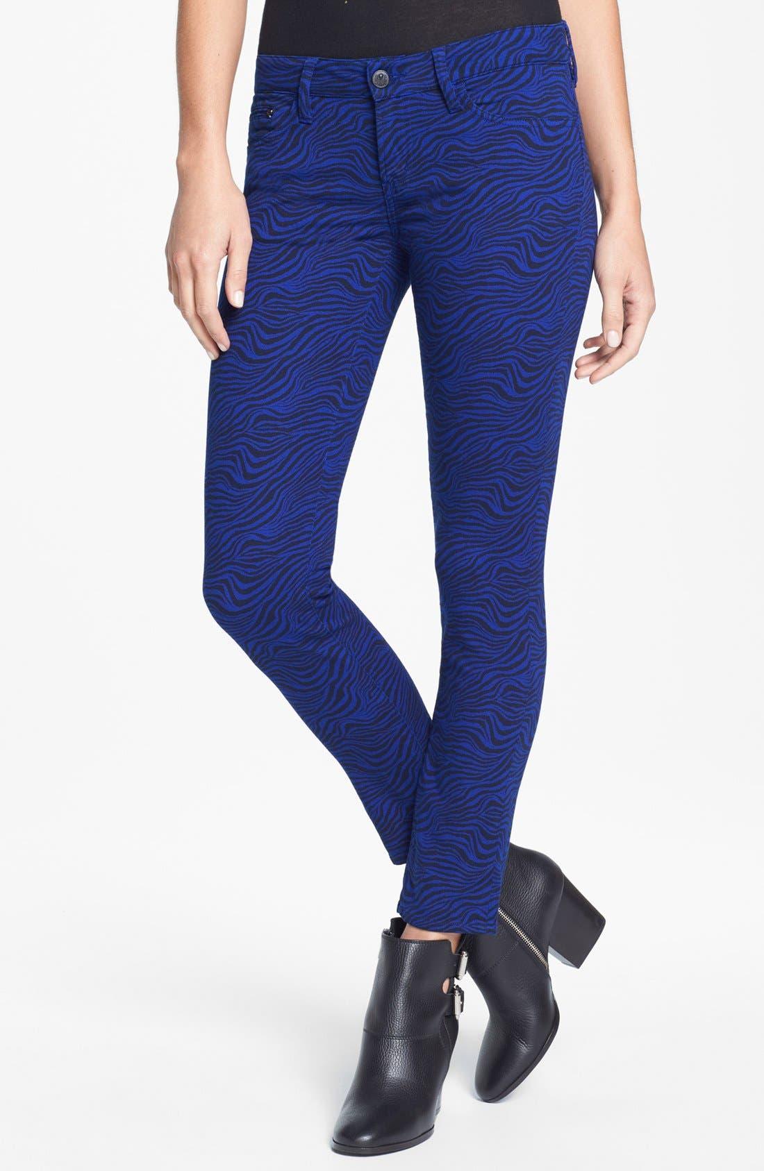 Alternate Image 1 Selected - The Kooples Zebra Print Stretch Skinny Jeans