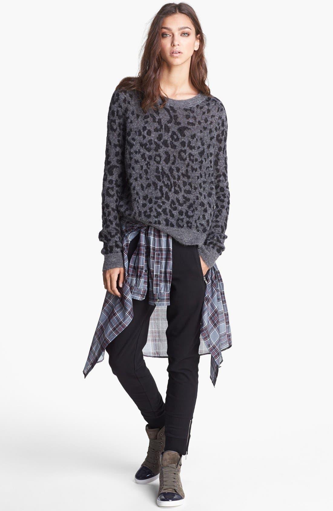 Alternate Image 3  - The Kooples Leopard Pattern Sweater
