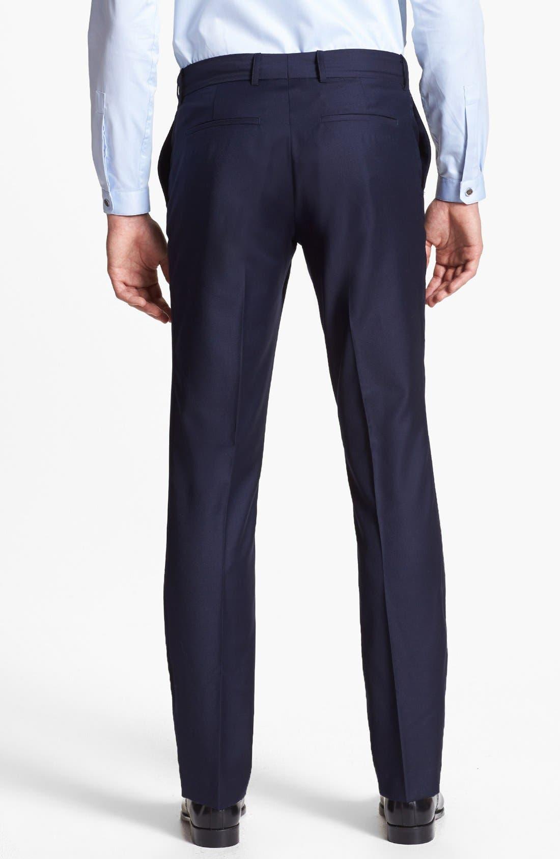Alternate Image 2  - The Kooples Slim Fit Navy Wool Trousers