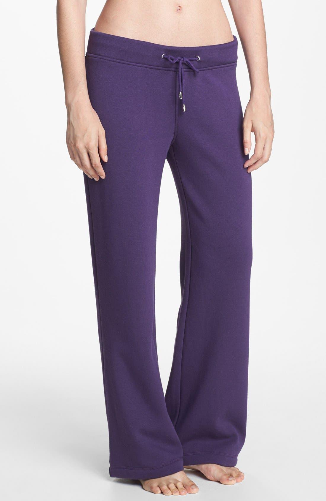 'Collins' Double Knit Pants,                             Main thumbnail 1, color,                             Purple Violet