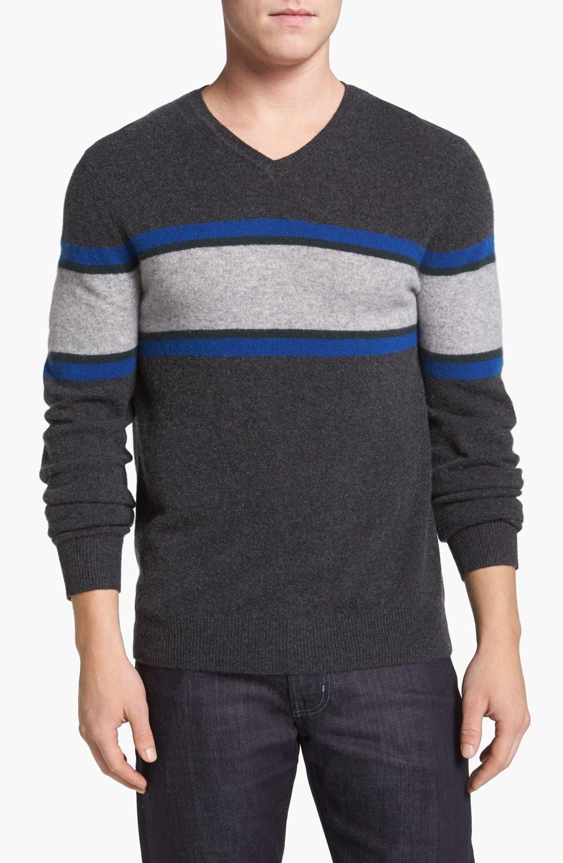 Alternate Image 1 Selected - 1901 Cashmere V-Neck Sweater