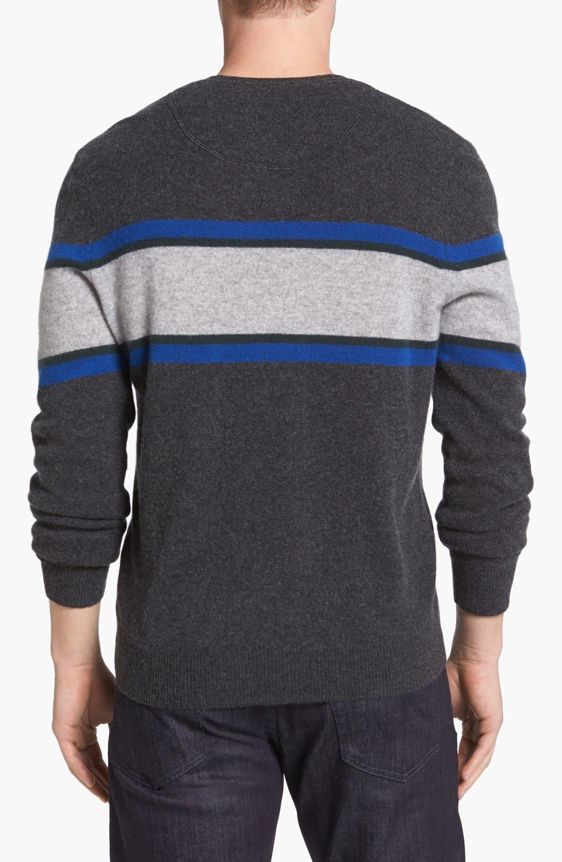Alternate Image 2  - 1901 Cashmere V-Neck Sweater